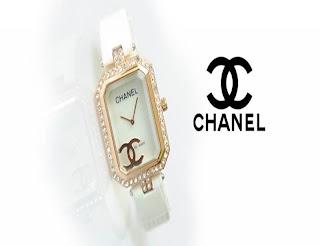 jam tangan keren CHANEL CH-1153 GOLD WHITE