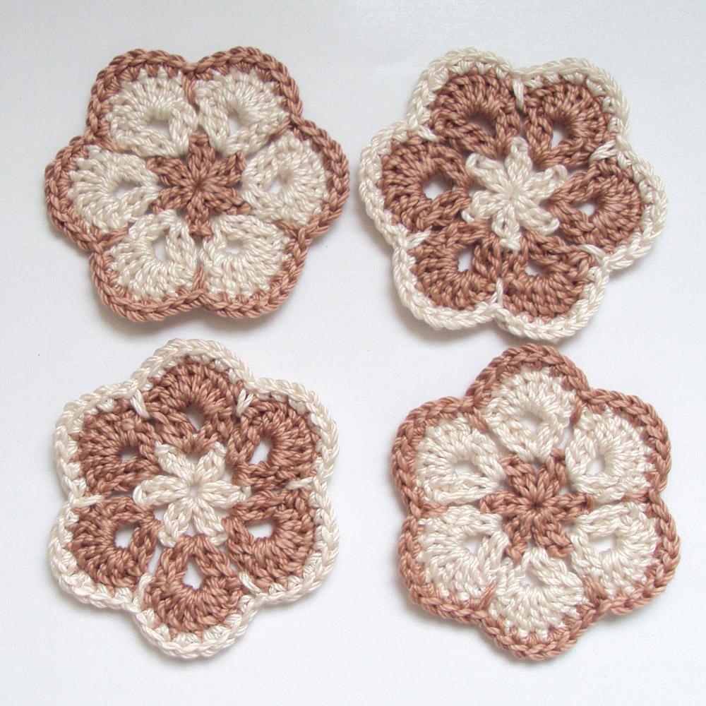 African Flower Hexagon Crochet Pattern
