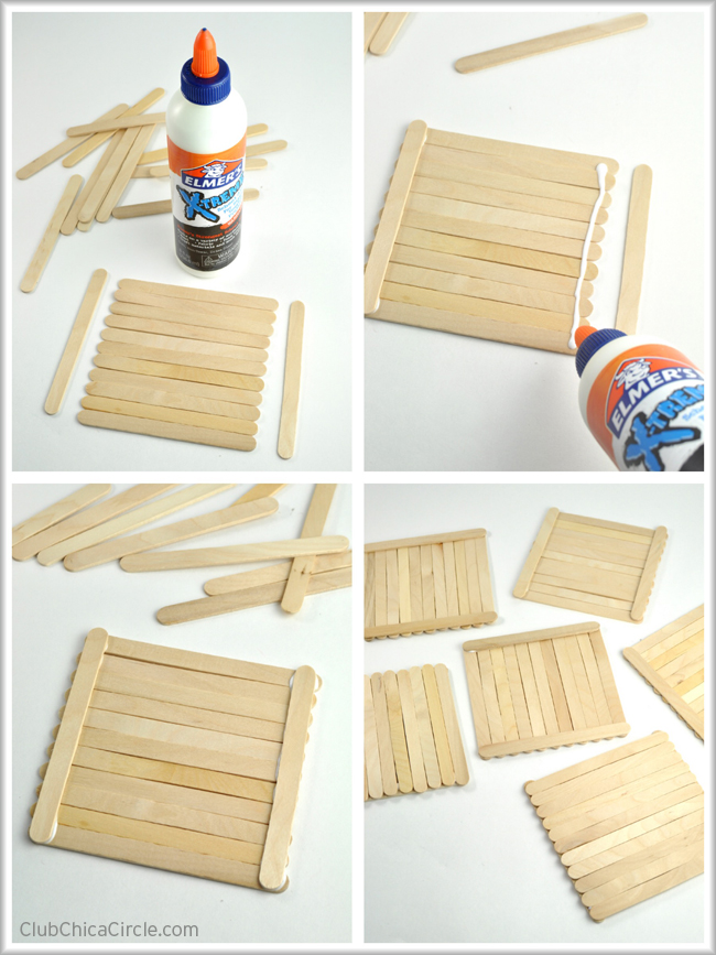 Popsicle Stick Photo Frame Munchkins And Mayhem