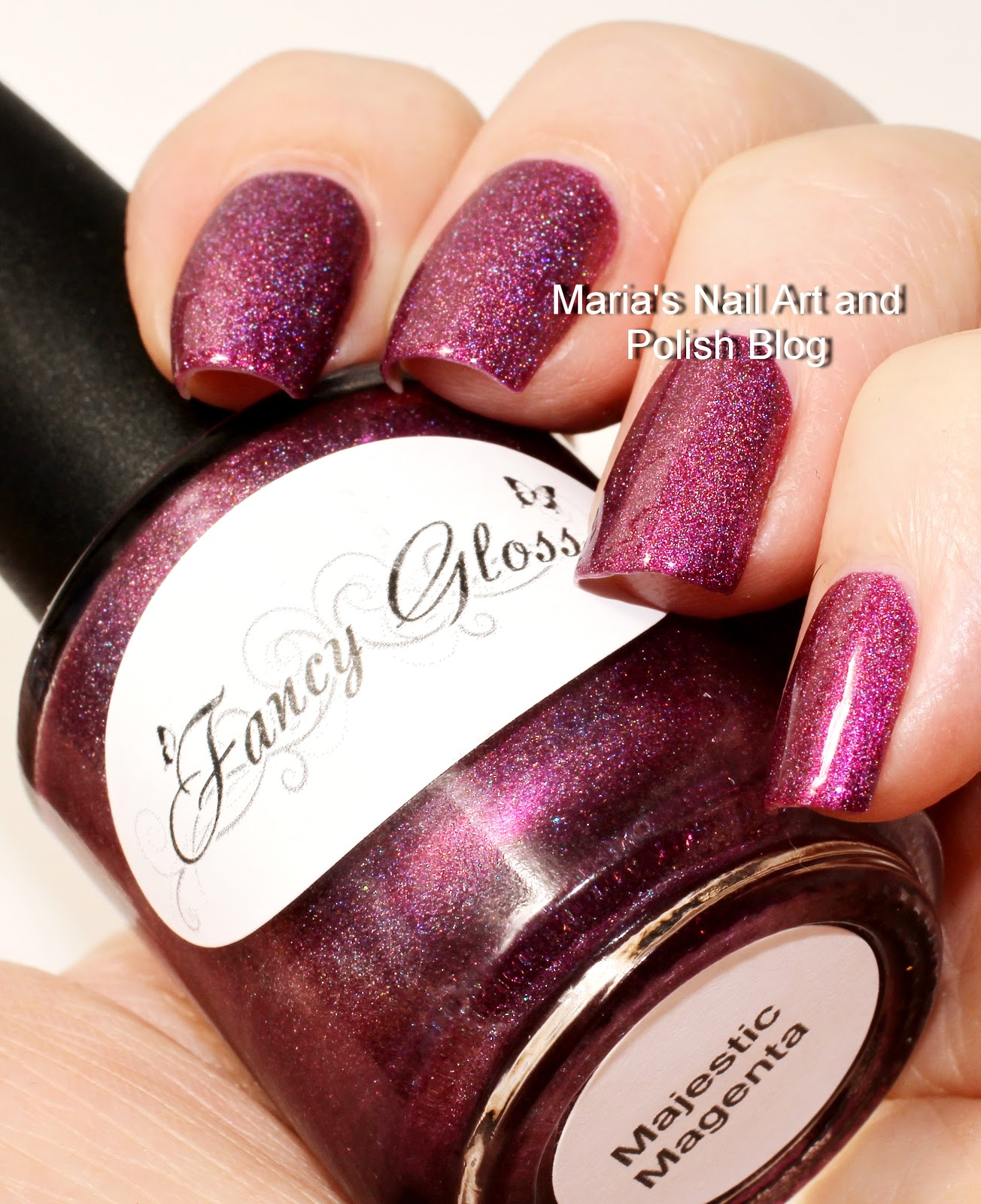 Marias Nail Art and Polish Blog: Fancy Gloss Majestic Magenta swatches