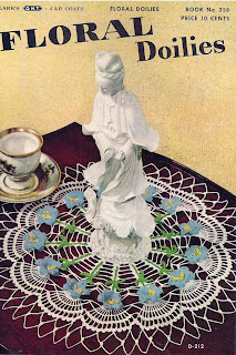 Bluebell Doily Pattern is 15 inches and vintage 1949
