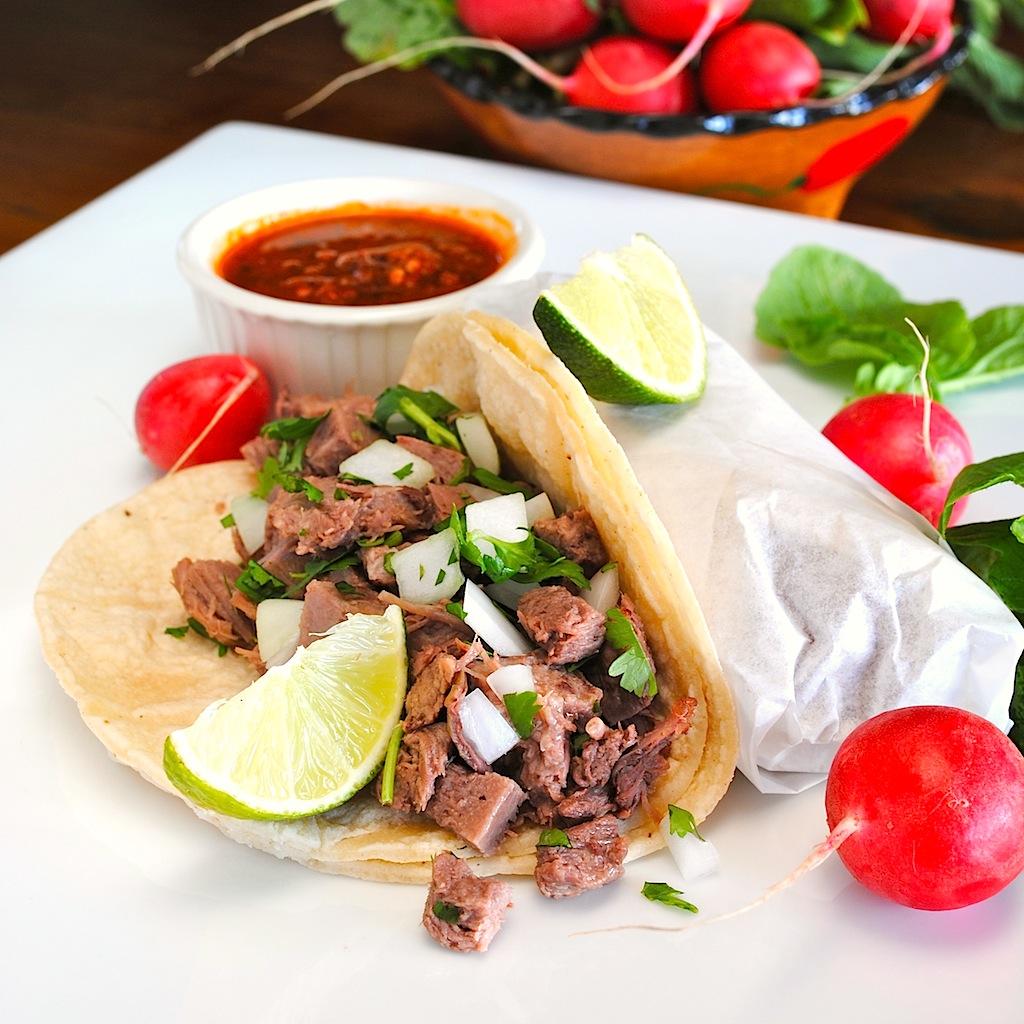 """JULES FOOD...: Tacos de LENGUA. YES...""""Tongue"""" Tacos"""