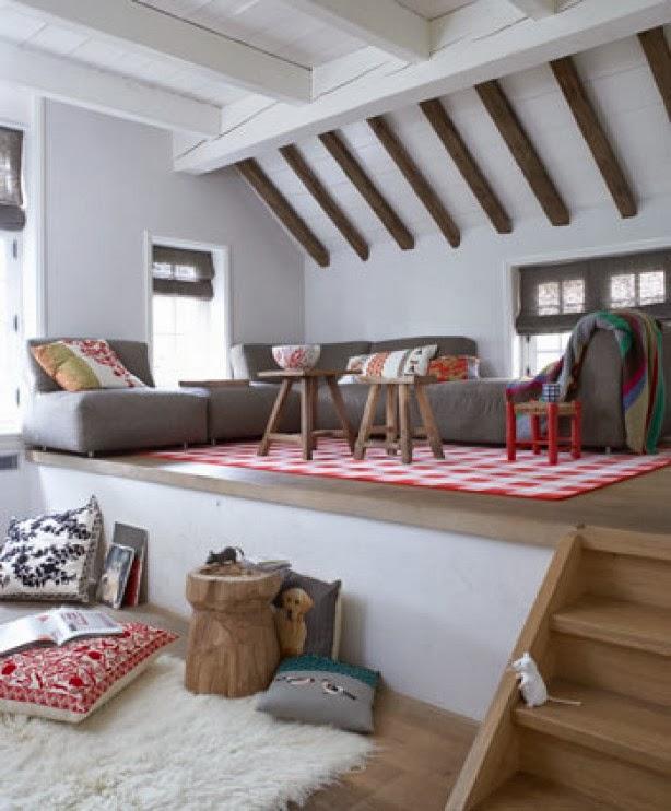 En mi espacio vital muebles recuperados y decoraci n - Salon doble altura ...