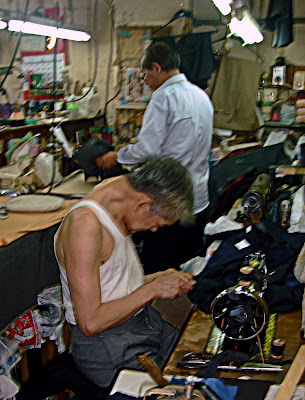Chinese tailors at work