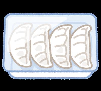 冷凍餃子のイラスト