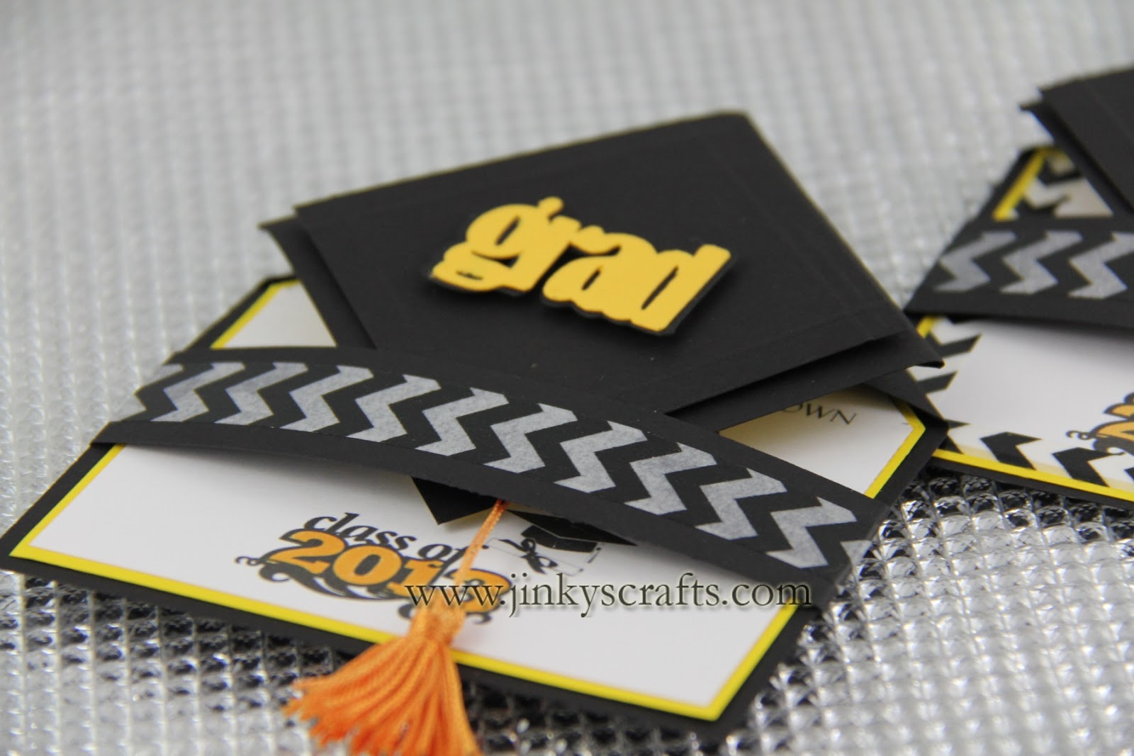3D Graduation Cap Pop-Up Invitations - Jinkys Crafts