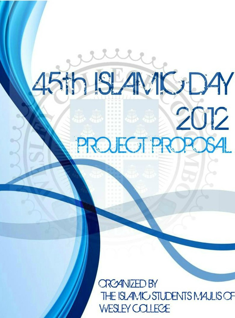 islamic students majlis of wesley college cover page of the cover page of the project proposal