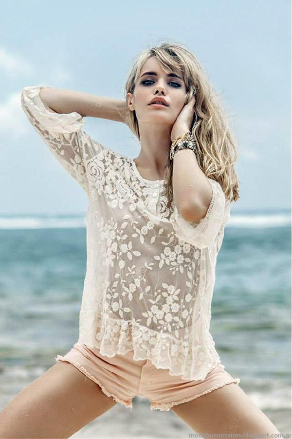 Moda 2015 Sweet. Moda ropa de mujer verano 2015, tendencias encajes y transparencias.