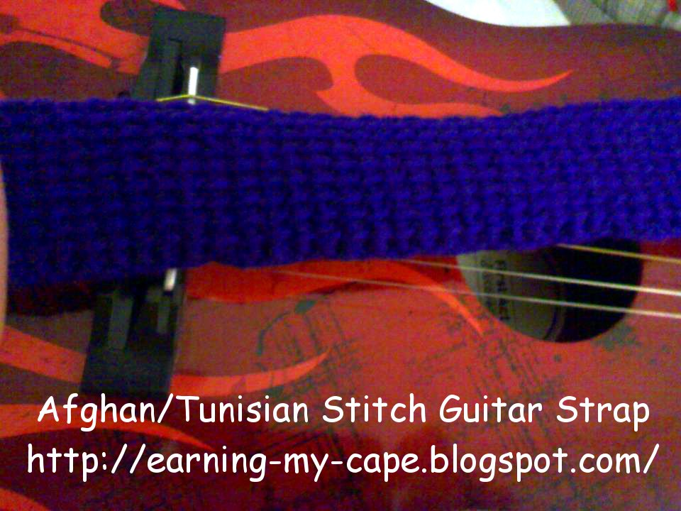 Free Pattern Crochet Guitar : Earning-My-Cape: Afghan/Tunisian Stitch Crochet Guitar ...