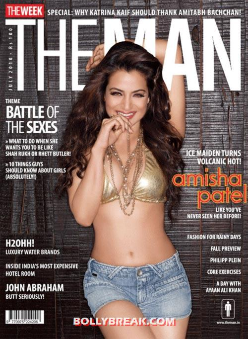 Ameesha Patel onthe cover of The Man magazine - (5) - Ameesha Patel's Hottest Magazine Covers 