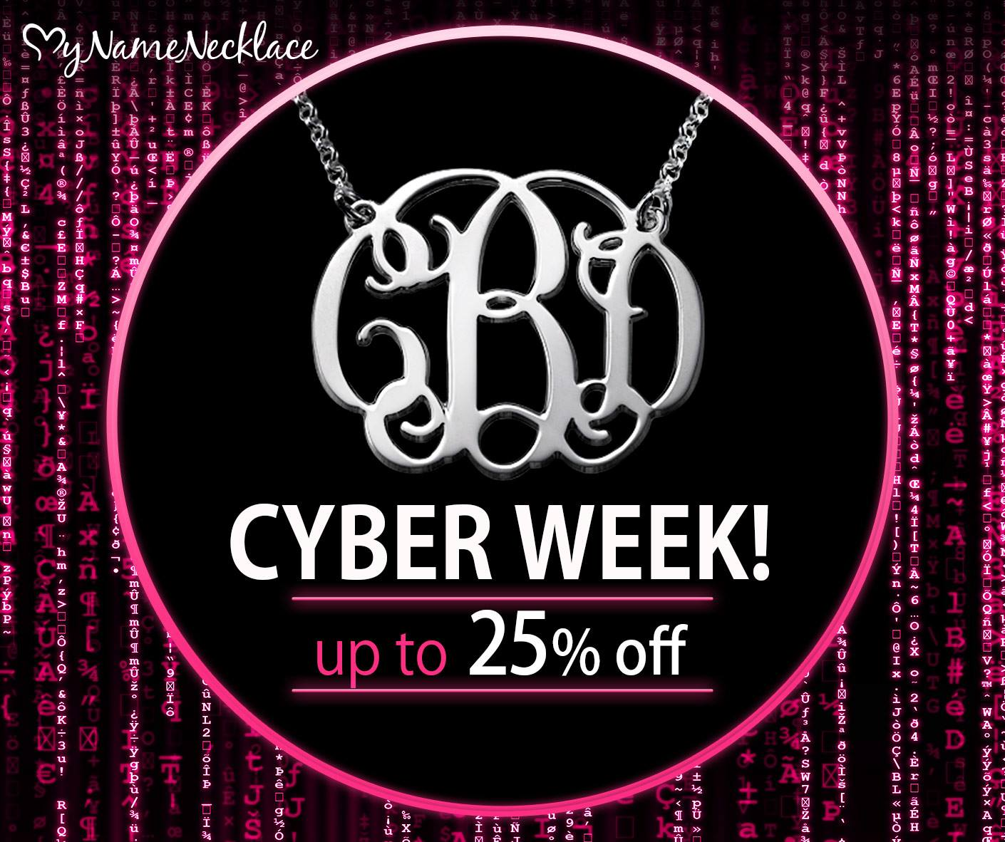 Cyber Week Sale at MyNameNecklace