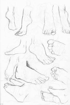 Übungskizzen Füße