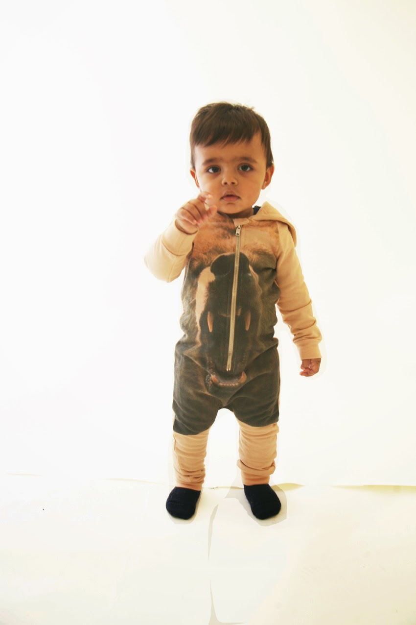 Growling bear print by Popupshop for autumn/winter 2014 kids fashion collection