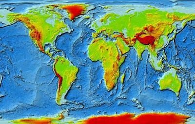 Keragaman Bentuk-bentuk Muka Bumi pada Peta (Relief)