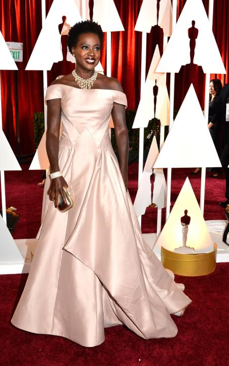 Viola Davis, Zac Posen, red carpet, looks, outfit, oscars 2015, oscar