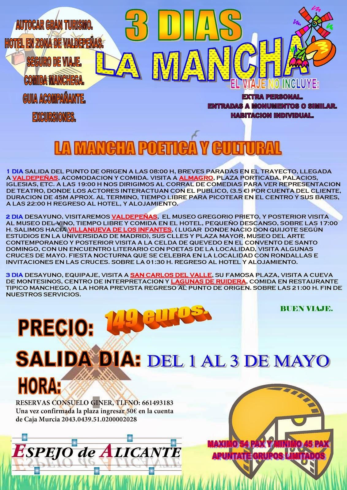 "Viaje La Mancha petico-cultural"""""