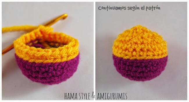 Marta Ruso Crochet Creativo: [TUTORIAL] Cambio de color perfecto ...