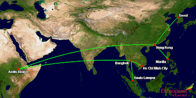 Ethiopian's proposed new routes