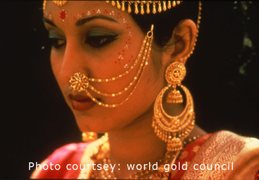 Indian Blush Traditional Bengali Gold Wedding Jewellery