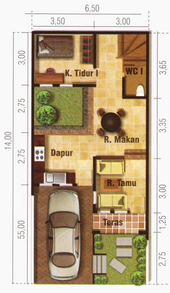 7 Sketsa Rumah Mungil Terbaik Desain Rumah Minimalis