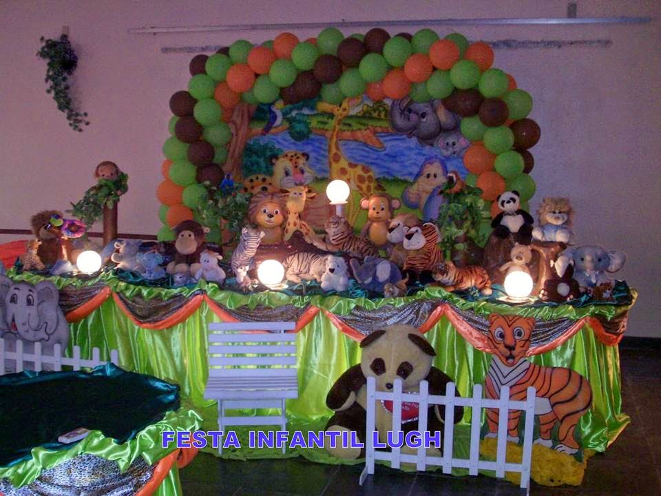 Tema Floresta Baby para decoração de festa infantil