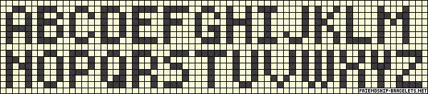 Diagrama Pulseras de Hilo Todo sobre las pulseras de  - imagenes de letras para pulseras