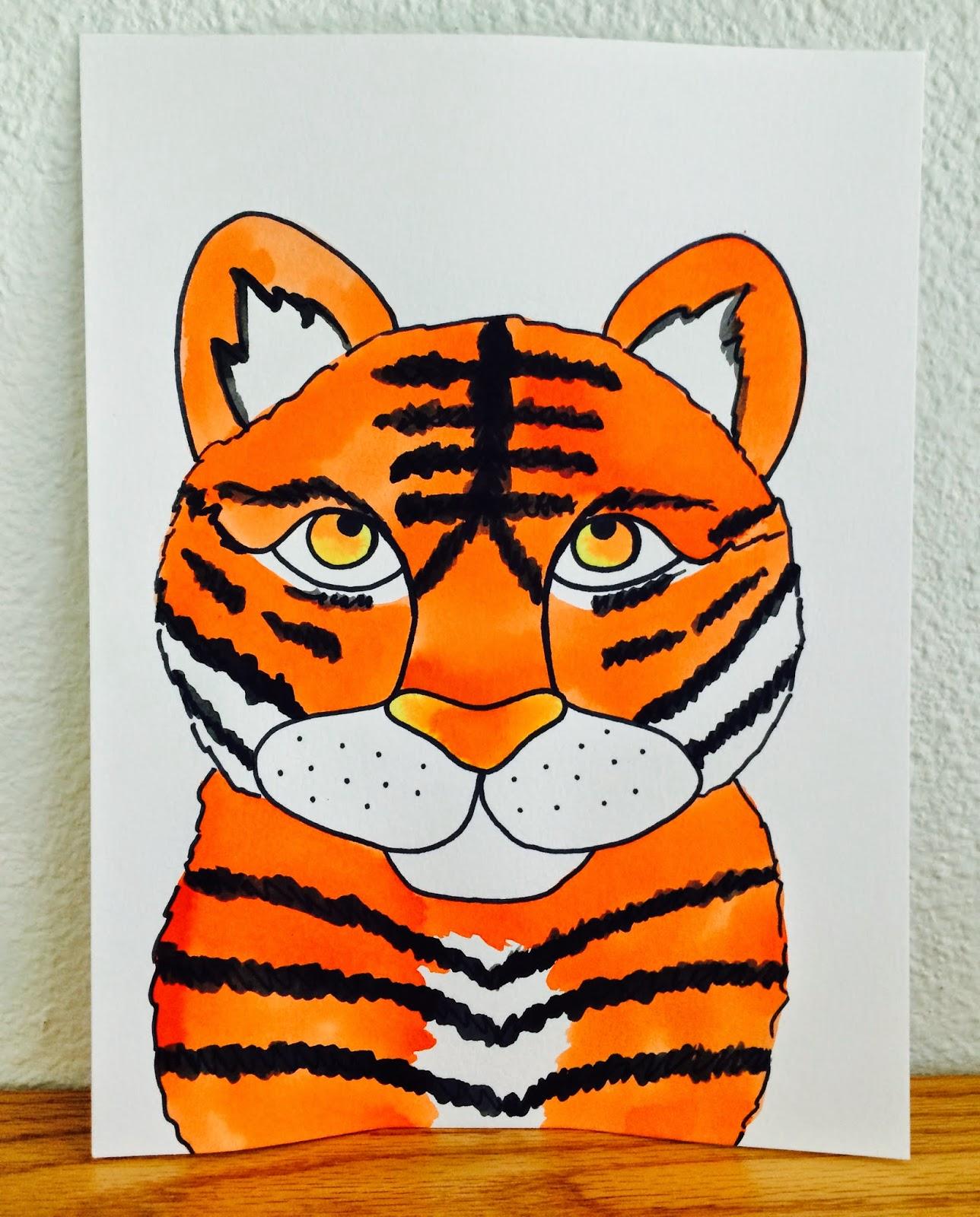 tiger eyes painting