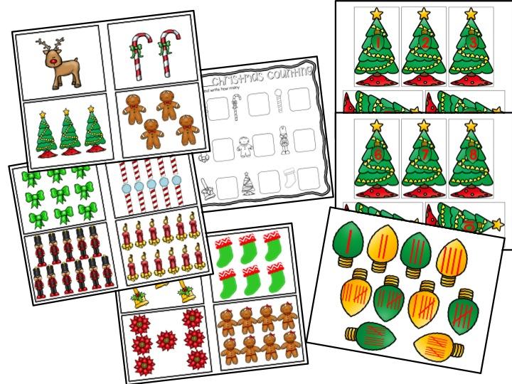 december math center.  Christmas math
