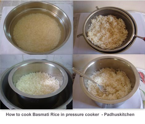 How to cook basmati rice in pressure cooker