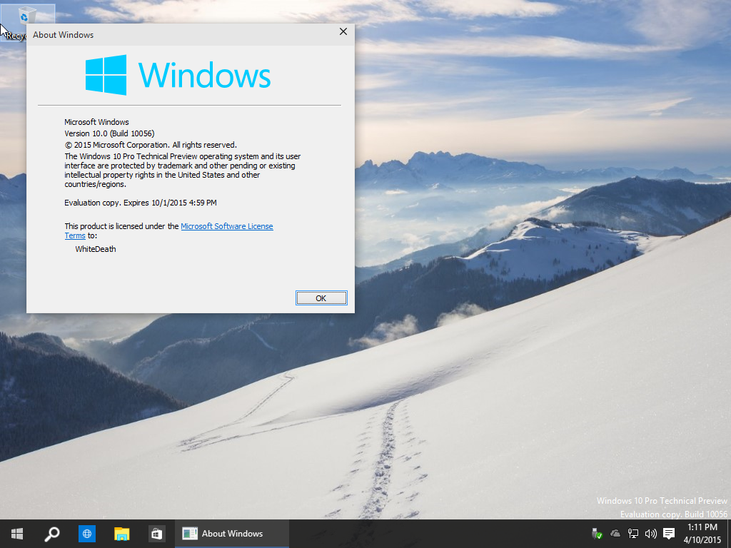 Windows 10 Technical Preview Build 10056 ISO