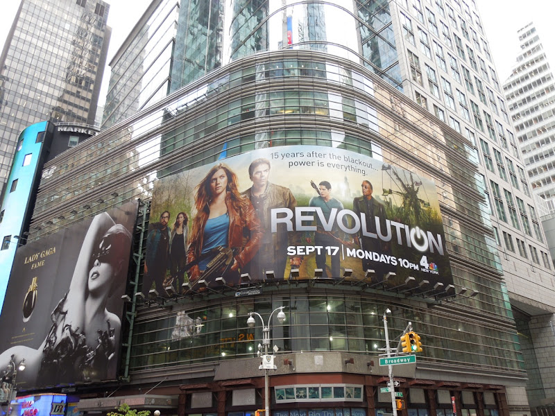 Giant Revolution billboard Times Square NYC
