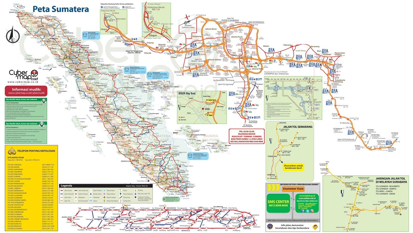 Peta Jalur Mudik Jakarta Padang Tahun 2014