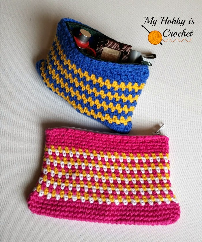Crochet Zipper : My Hobby Is Crochet: Woven Stitch Zipper Pouch Free Crochet Pattern ...