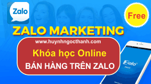 Khóa học Online Zalo Marketing