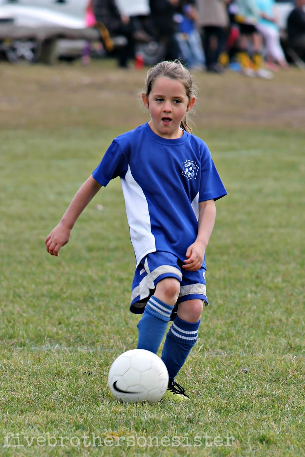 Displaying 20> Images For - Little Girl Playing Soccer...