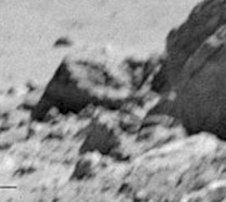 Imagen del extraño objeto ampliado., luna
