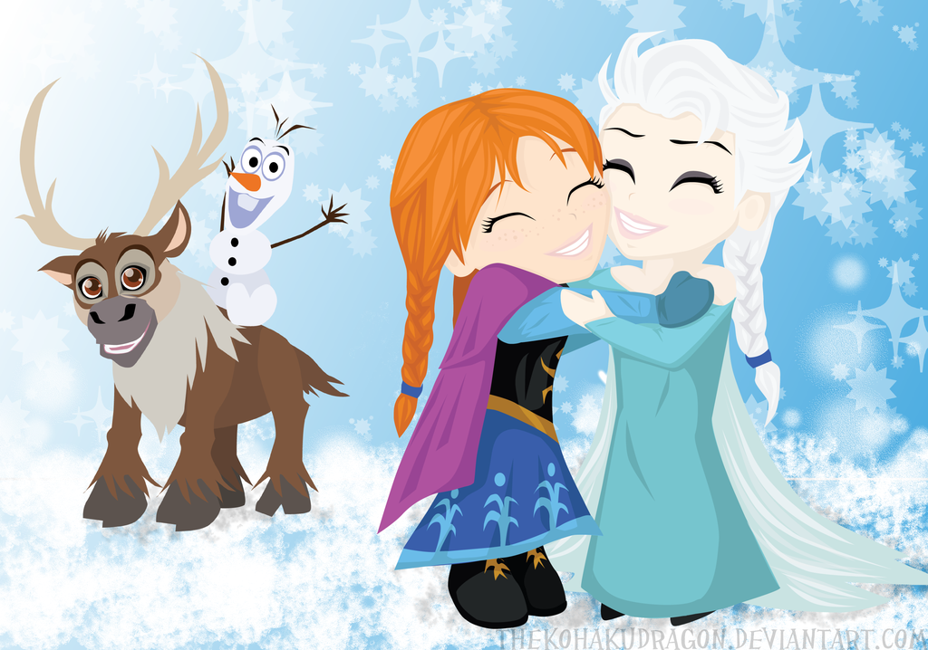 Geek with curves frozen art you need to see - Frozen anna and olaf ...