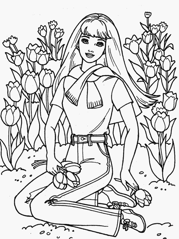 coloring picture barbie