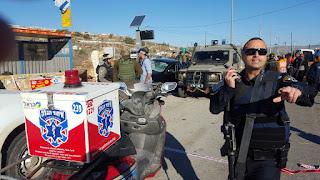 A katonák közé hajtott a palesztin a somroni Tapuach útelágazásnál kedden, 3 könnyebb sérült, a támadót ártalmatlanították