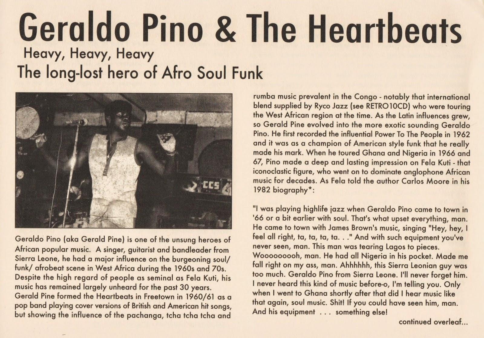 Geraldo Pino & Heartbeats, The - Heavy Heavy Heavy