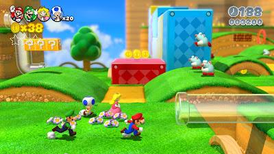 Super Mario 3d World para WiiU