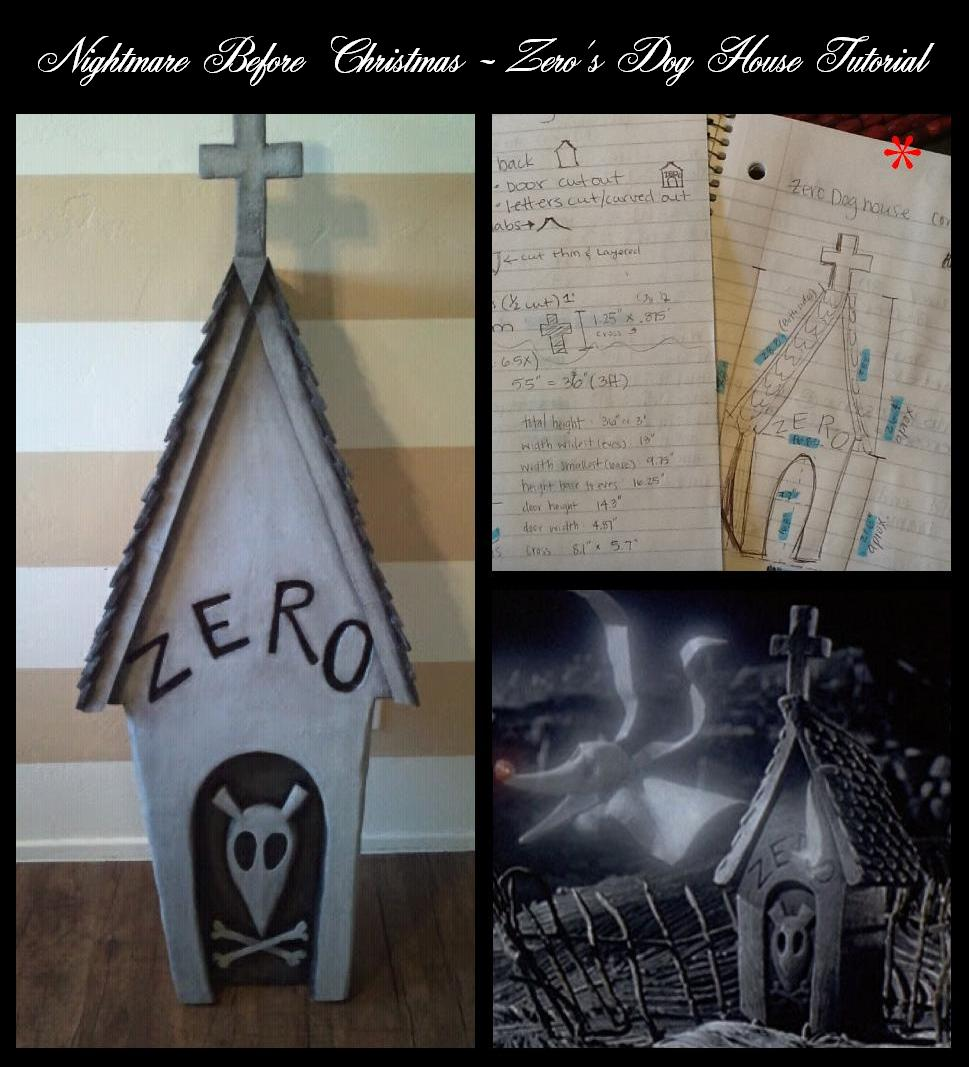 ... : Nightmare Before Christmas: Zero's Dog House Grave Stone Tutorial