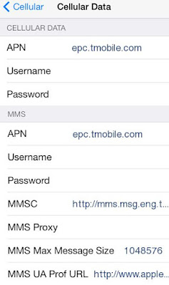 T-Mobile US APN Settings for iPhone