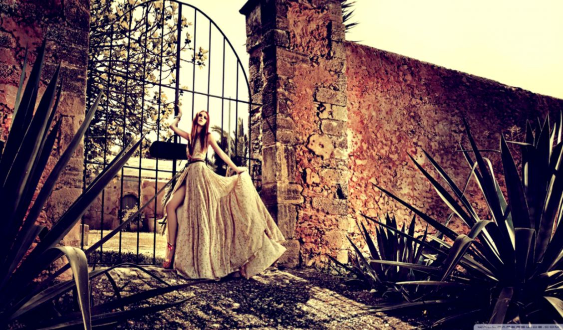 Vintage Fashion Photography Background Wallpaper