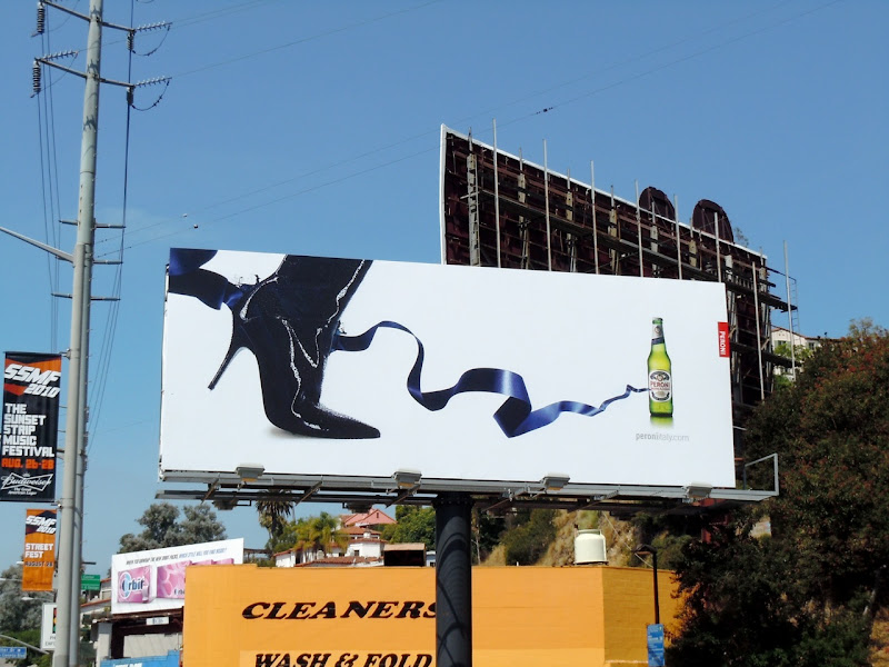 Peroni beer high heel billboard
