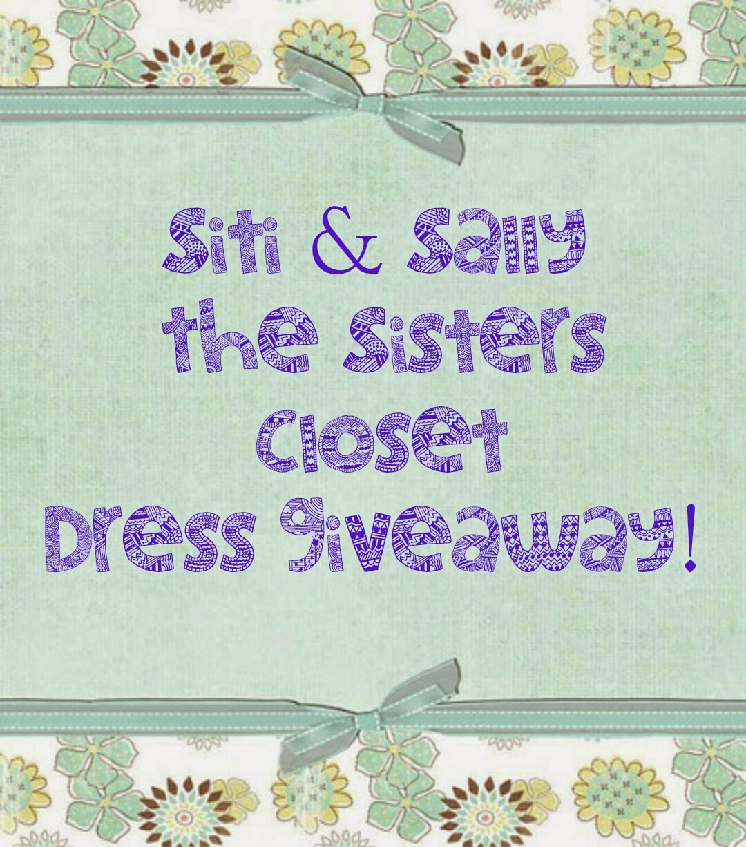 Siti Sally The Sisters Closet Dress Giveaway