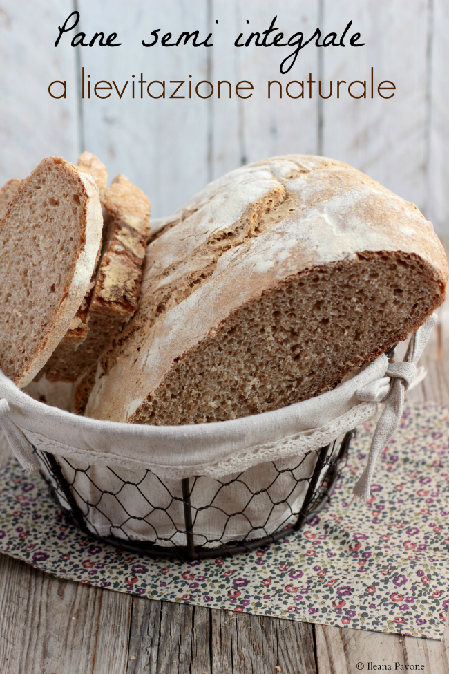 pane semi integrale a lievitazione naturale