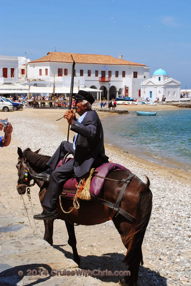 A Man & his Donkey - Mykonos