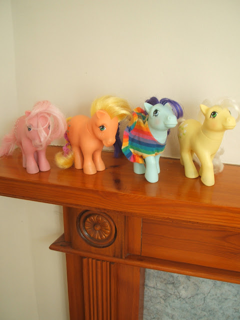vintage, my little pony, cotton candy, apple jack, nostalgia