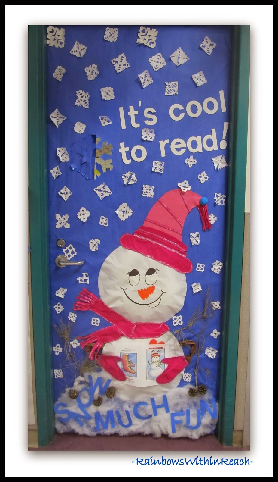 Winter Decorations For Preschool Classroom ~ Winter themed decorated classroom door via rainbowswithinreach